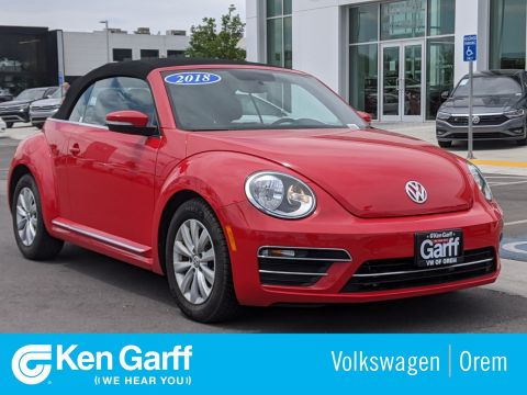 Certified Pre-Owned 2018 Volkswagen Beetle Convertible S AUTO